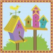 Bird Houses - Imagens vectoriais em stock