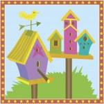 Bird Houses — Stock Vector