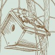 Birdcage Sketch - Outdoors — Image vectorielle