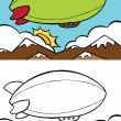 Blimp — Stock Vector #3985713