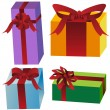 Gift box set — Stock Vector