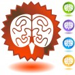 Brain Icon Set - Imagen vectorial