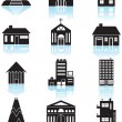 Wektor stockowy : World Travel Structures - Black