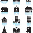 World Travel Structures - Black - Stock Vector