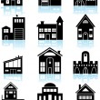 Various Structures - Black — Stock Vector