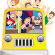Bus Driver and Riders on Bus — Vetorial Stock #3985970