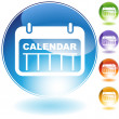 Date Calendar Crystal Icon - Stockvectorbeeld