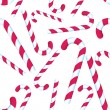Candy Cane Repeating Pattern - Stock Vector