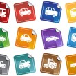 Royalty-Free Stock Vector Image: Vehicle Sticker Set