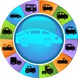 Automotive Wheel — Stock Vector