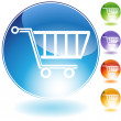 Shopping Cart Icon — Stockvector #3986279