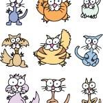 Cartoon Katzen — Stockvektor