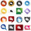 Cheese Wedge Icon Set — Vettoriale Stock #3986475