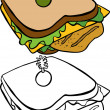 Royalty-Free Stock Vector Image: Chicken Sandwich