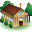 3D Church - Stock Vector