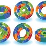 3D схемы — Cтоковый вектор