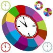 Stock Vector: Business Clock Chart
