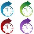 czas do przodu — Wektor stockowy