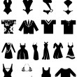 Clothing Variety Set - Stock Vector