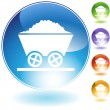 Mining Cart Icon - Stock Vector