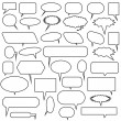 Chat Bubble Icon Set — Stock Vector