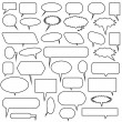 Chat Bubble Icon Set — Stock Vector #3986791