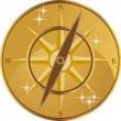 golden compass — Stock Vector