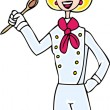 Stock Vector: Female Chef