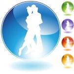 Dancing Crystal Icon — Stock Vector #3986884