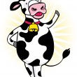 Happy Cow - Stock Vector
