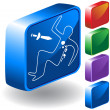 Murder Scene 3D Icon — Stock Vector