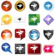 Royalty-Free Stock Vector Image: Crossroads Icon Set
