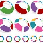 Circle Chart Set — Stock Vector
