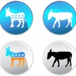 Campaign Party Buttons — Stock Vector