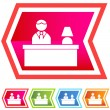 Front Desk - Stock Vector
