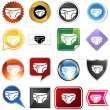 Royalty-Free Stock Vectorielle: Diaper Icon Set