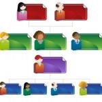 Diversity Organizational Chart — Stock Vector #3987167