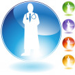Physician Crystal Icon - Image vectorielle