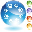 Paw Print Crystal Set — Stock Vector #3987216