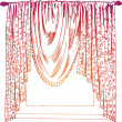 Curtains — Stock Vector