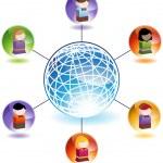 Global Children Network — Stock Vector