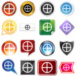 Earth Sign Icon Set — Image vectorielle
