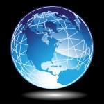 3D Blue Globe — Stock Vector