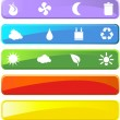 Stock vektor: Eco Friendly Icons