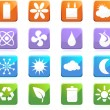 Eco Friendly Icons — Stock Vector