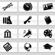 Education Icons — Stock vektor