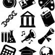 iconos educación — Vector de stock