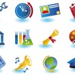 Education Icons — Imagen vectorial