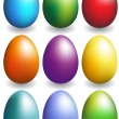 Colored Eggs - Stock Vector