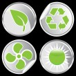 Stock Vector: Recycle Buttons